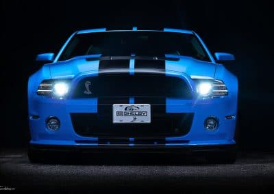 Mustang bleue Shelby GT 500
