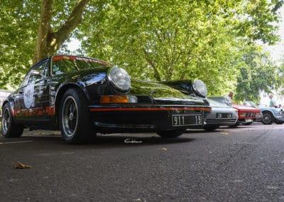 Porsche Carrera 2.7 RS, Porsche 964 cabriolet, ferrari 328 au rallye historique du touquet