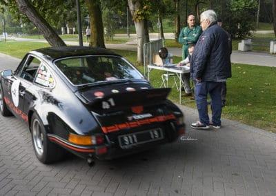 Porsche 2.7 RS au départ du rallye historique du touquet paris plage