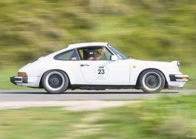 Porsche 964 Groupe A en filé lors du rallye historique du touquet paris plage