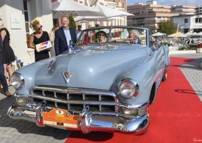 Cadillac Série 62 de 1950 lors du concours d'élégance du Touquet Paris Plage, photo prise en 3/4 avant