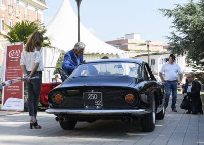 Ferrari 250 Lusso noire lors du concours d'élégance du Touquet Paris Plage