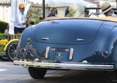 Alfa 6C 2500 Roadster de 1948 lors du concours d'élégance du Touquet Paris Plage