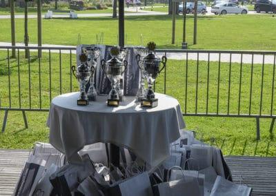 trophées lors du rallye historique du touquet paris plage