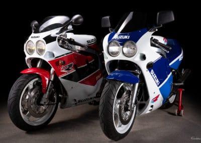 2 Suzuki GSXR 750 de 1988 et 1990