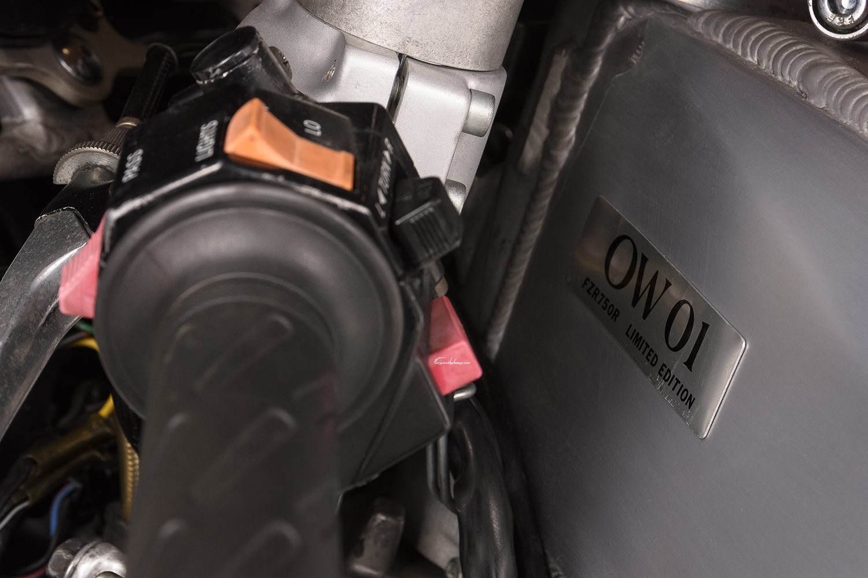 photo guidon et cadre Yamaha FZR 750 R OW01